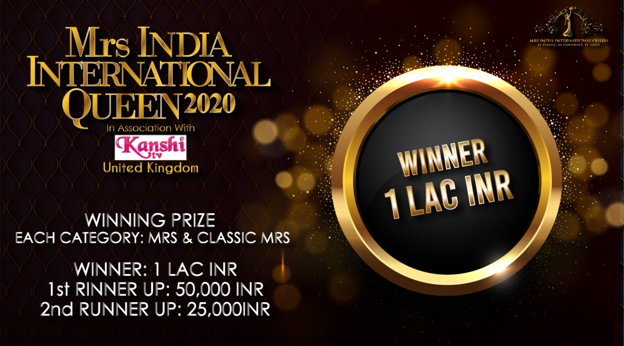 Mrs India Prize money